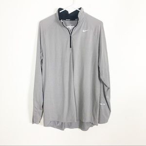 Nike Dri-Fit Taupe Half Zip Pullover Jacket